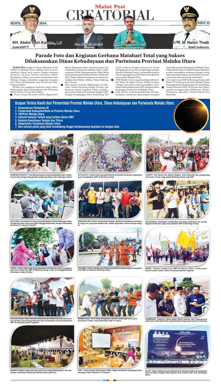 Malut Post 14 Maret 2016 By Malut Post Issuu