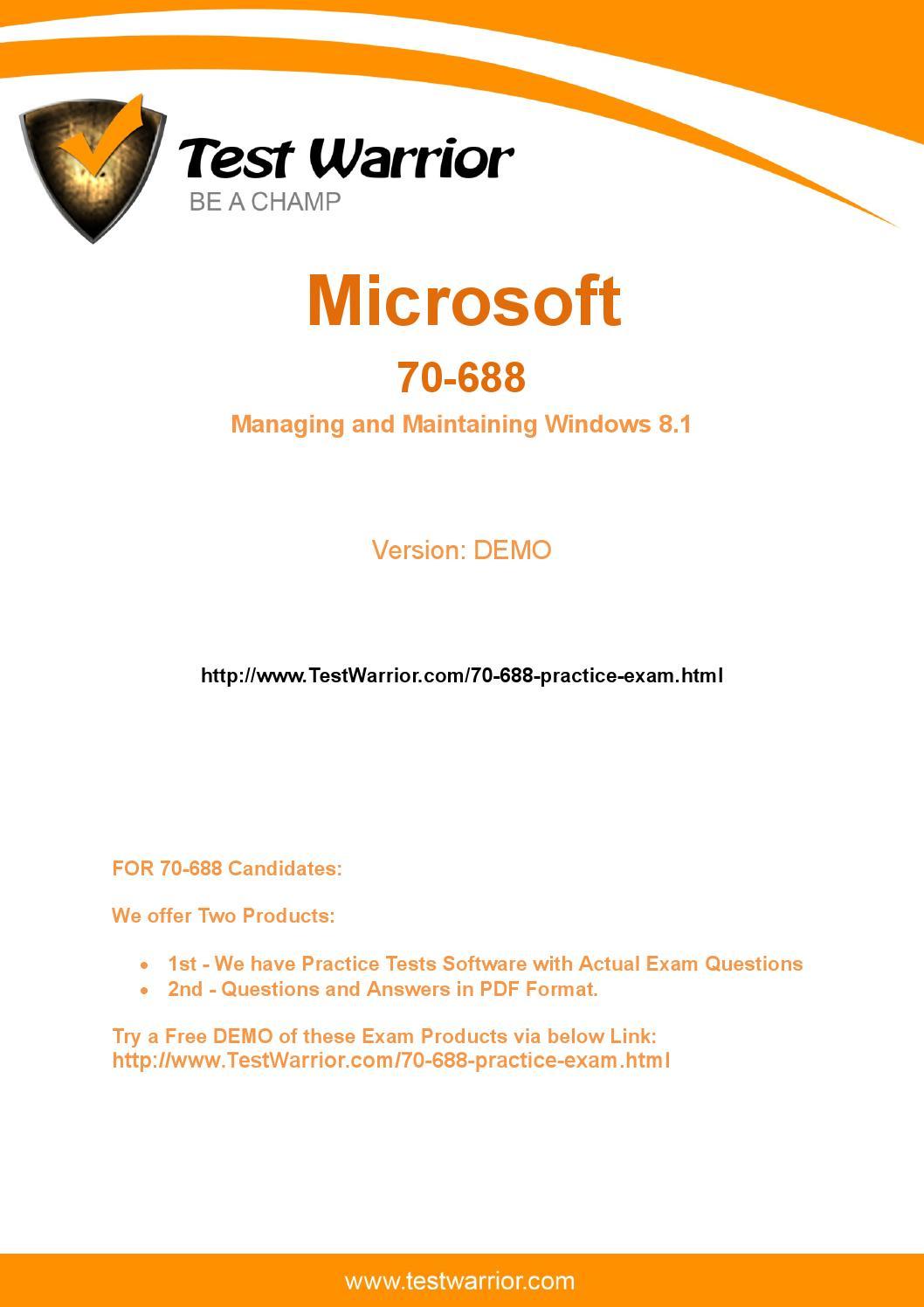 Exam Ref 70-688 Pdf