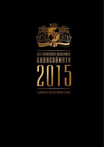 RTU Doktorantūras absolventu gadagrāmata 2015