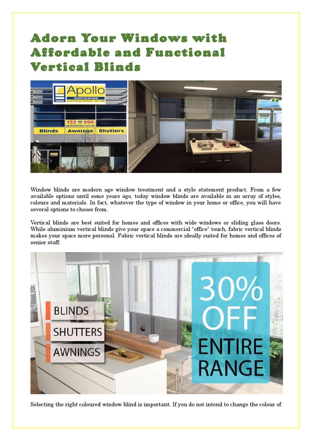 Affordable Vertical Blinds By Joseph Zammit Issuu