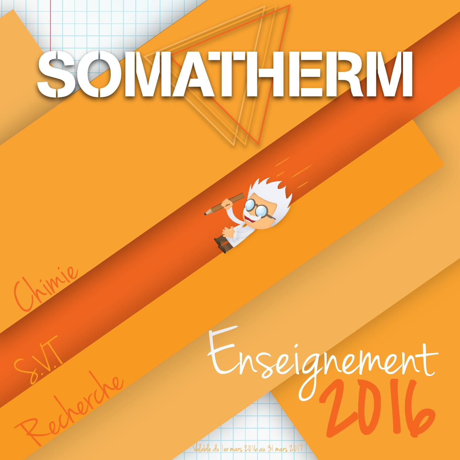 3489c499b20fd5 Catalogue SOMATHERM enseignement 2016 by SOMATHERM - issuu