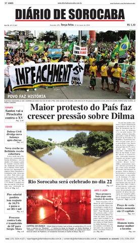 Edição de 15 de março de 2016 by DIÁRIO DE SOROCABA - issuu d423bc1aa516a