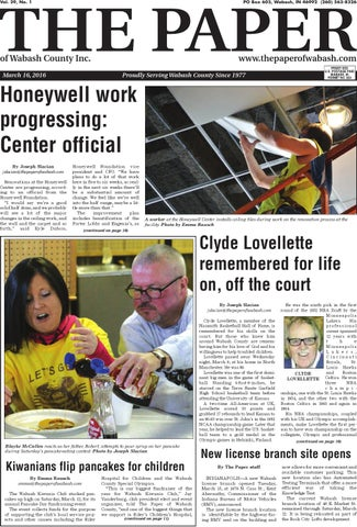 The Paper Of Wabash County March 16 2016 Issue By The Paper Of
