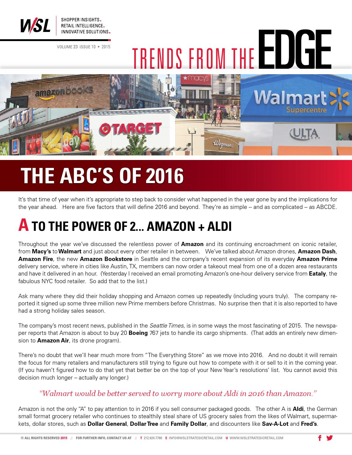 Trends from the EDGE, Vol 23 Issue 10 by WSL Marketing Inc. - issuu