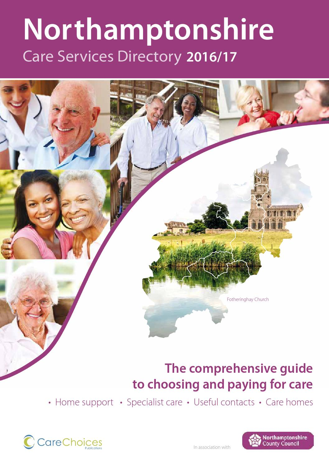 Northamptonshire Care Services Directory 2016 17 By Care Choices
