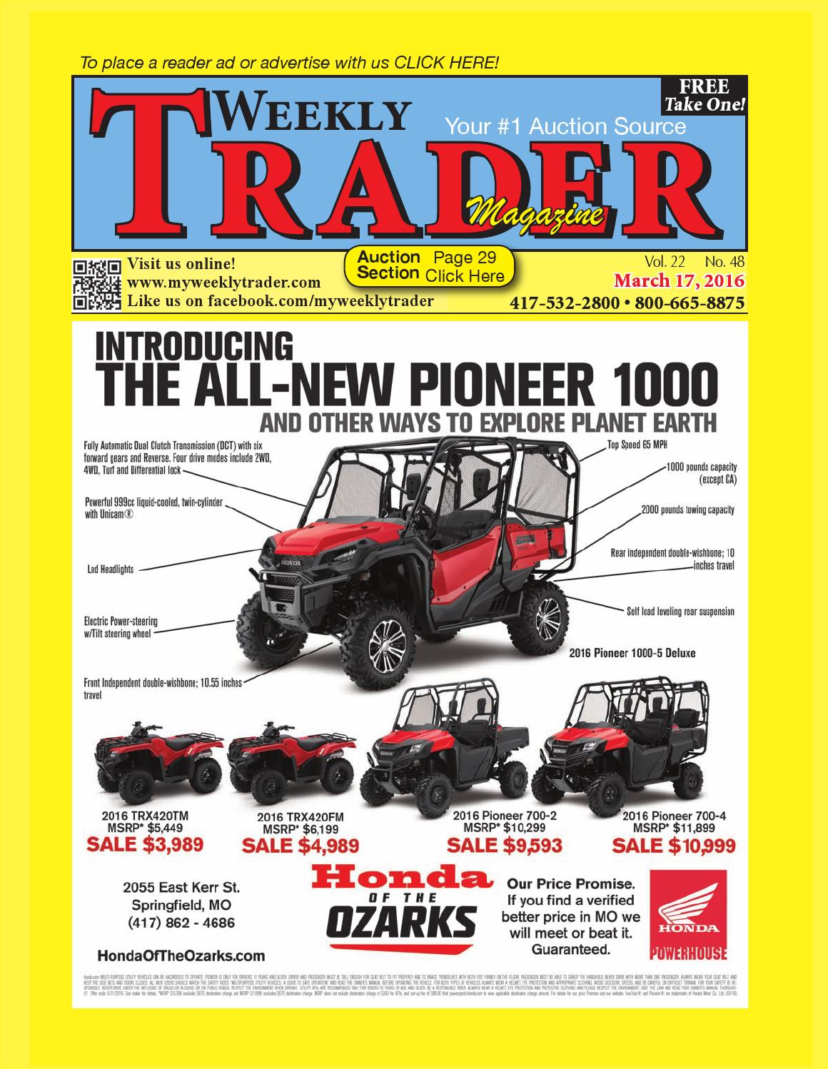Weekly trader march 17 2016 by weekly trader issuu fandeluxe Image collections