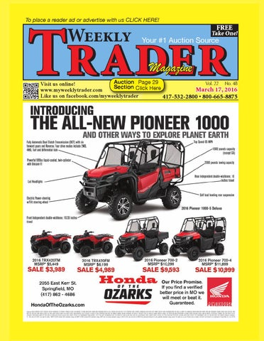 Weekly trader march 17 2016 by weekly trader issuu page 1 fandeluxe Images