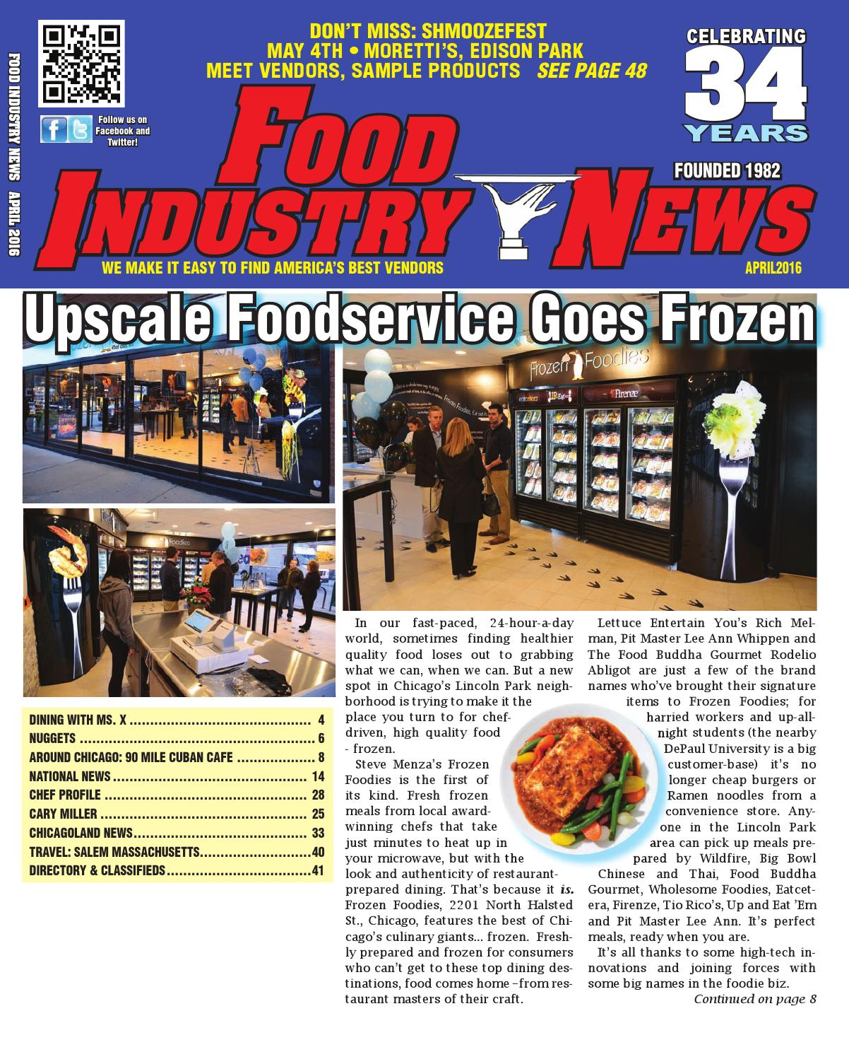 Lincoln Foodservice Products: Food Industry News April, 2016 Web Edition By