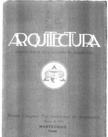 Arquitectura 36 1920 by sociedad de arquitectos del for Fabricas de muebles en montevideo uruguay