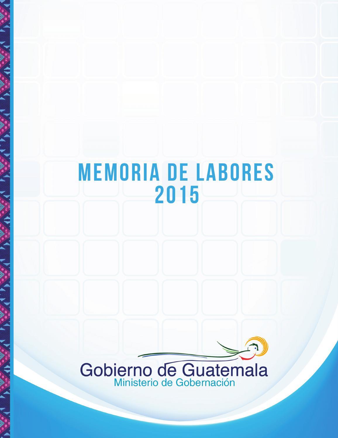 Memoria de labores mingob 2015 by ministerio de for Ministerio de gobernacion