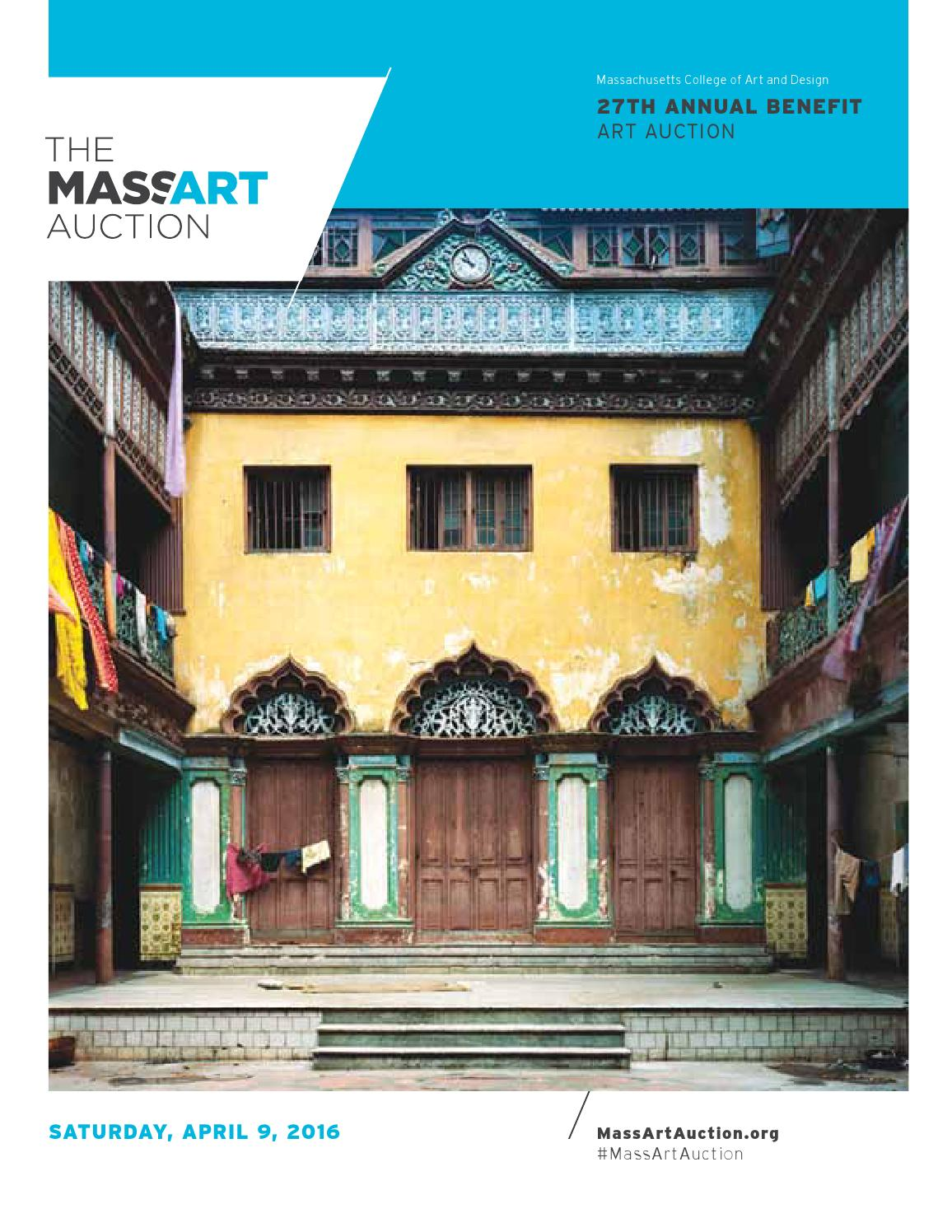 27th Annual MassArt Auction Catalog by Massachusetts College of Art ...