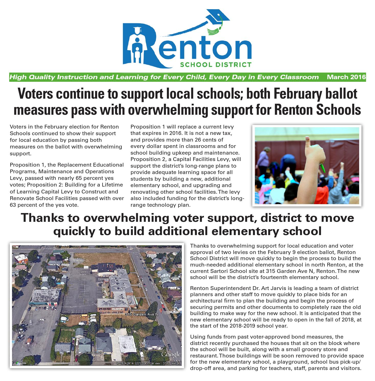 Renton Specials - Renton School District - March 2016 by Sound Publishing -  issuu