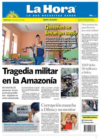 f75a8dc31ef Quito 16 de Marzo de 2016 by Diario La Hora Ecuador - issuu