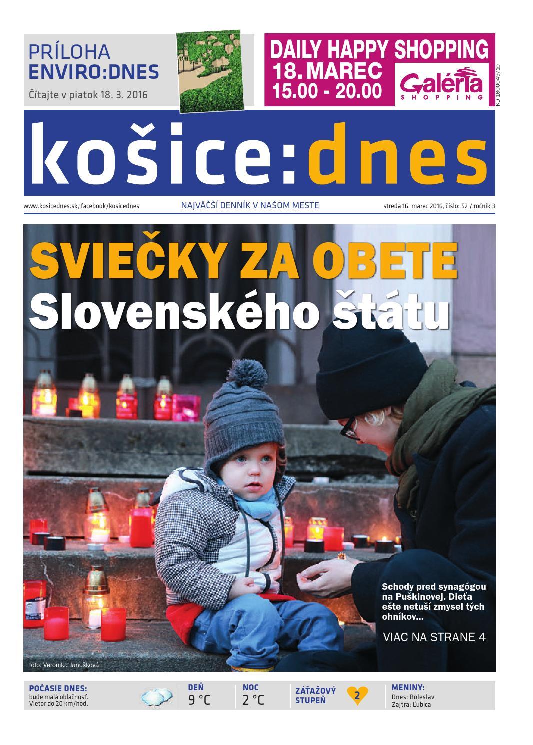 3a01d9b4ca košice dnes 16.3. 2016 by KOŠICE DNES - issuu