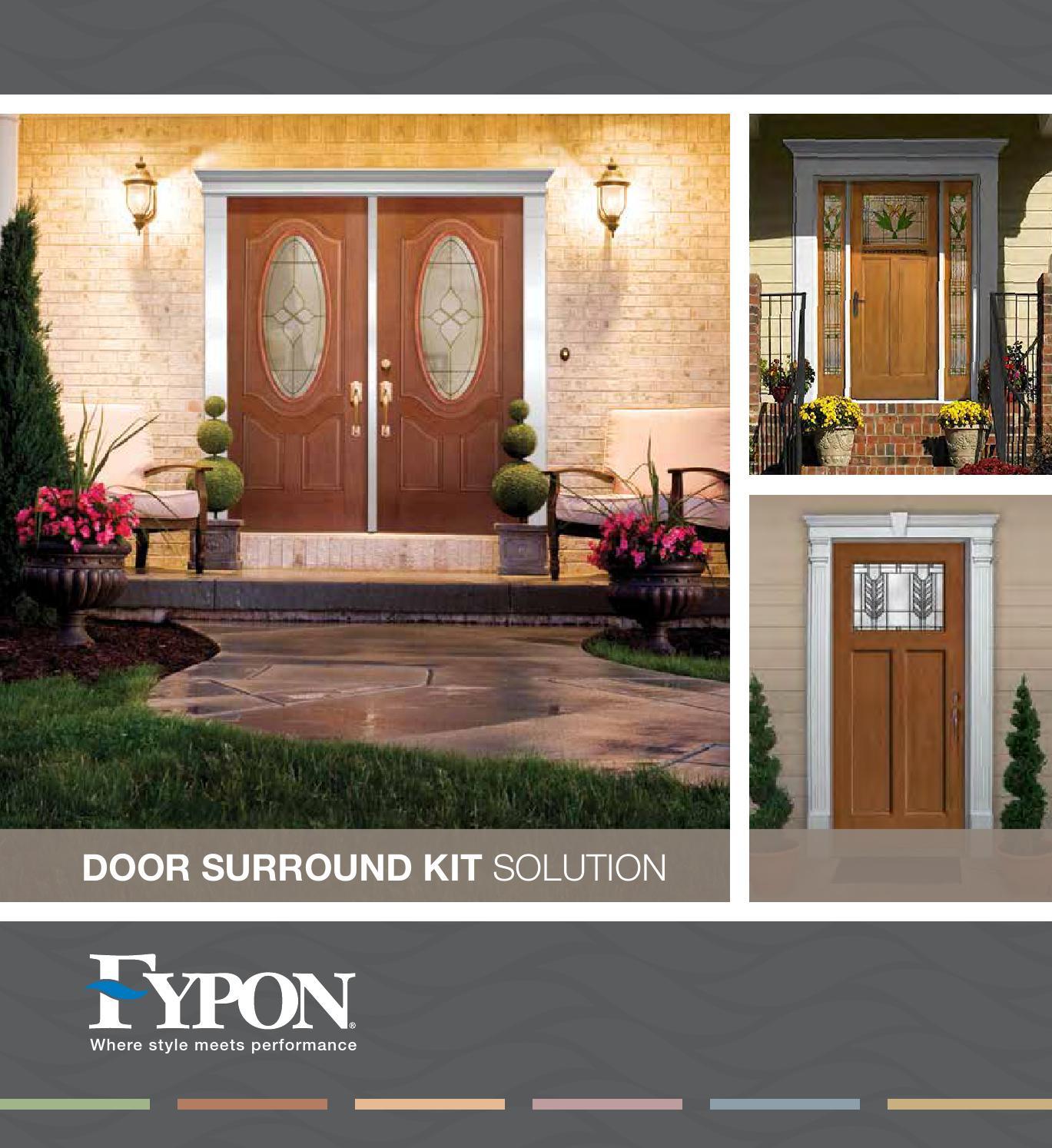 2016 Fypon Door Surround Kit Brochure