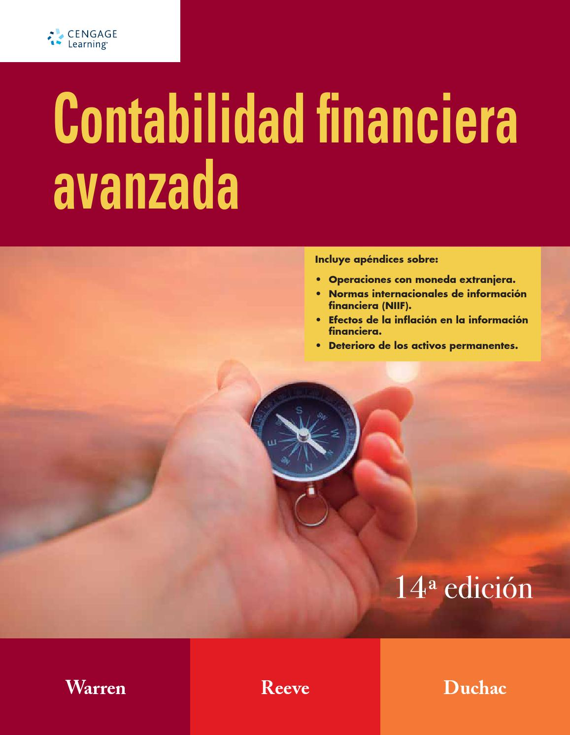 Contabilidad Financiera Avanzada. Carls S. Warren S, James M. Reeves ...