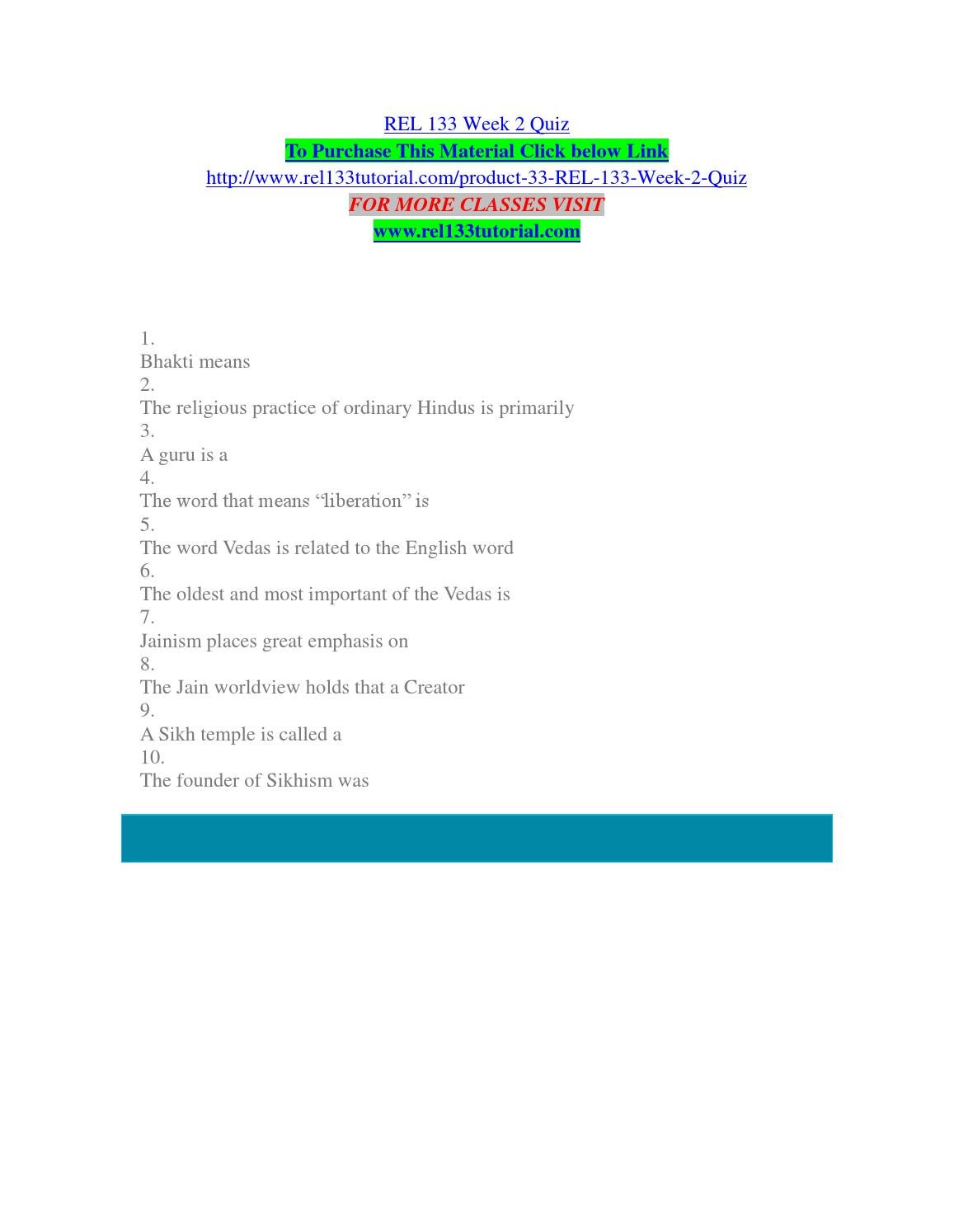 rel 133 week 2 Rel 133 week 2 jainism vs sikhism worksheet rel 133 week 2 jainism vs sikhism worksheet this worksheet will help you to identify the main ideas in the reading for the week.
