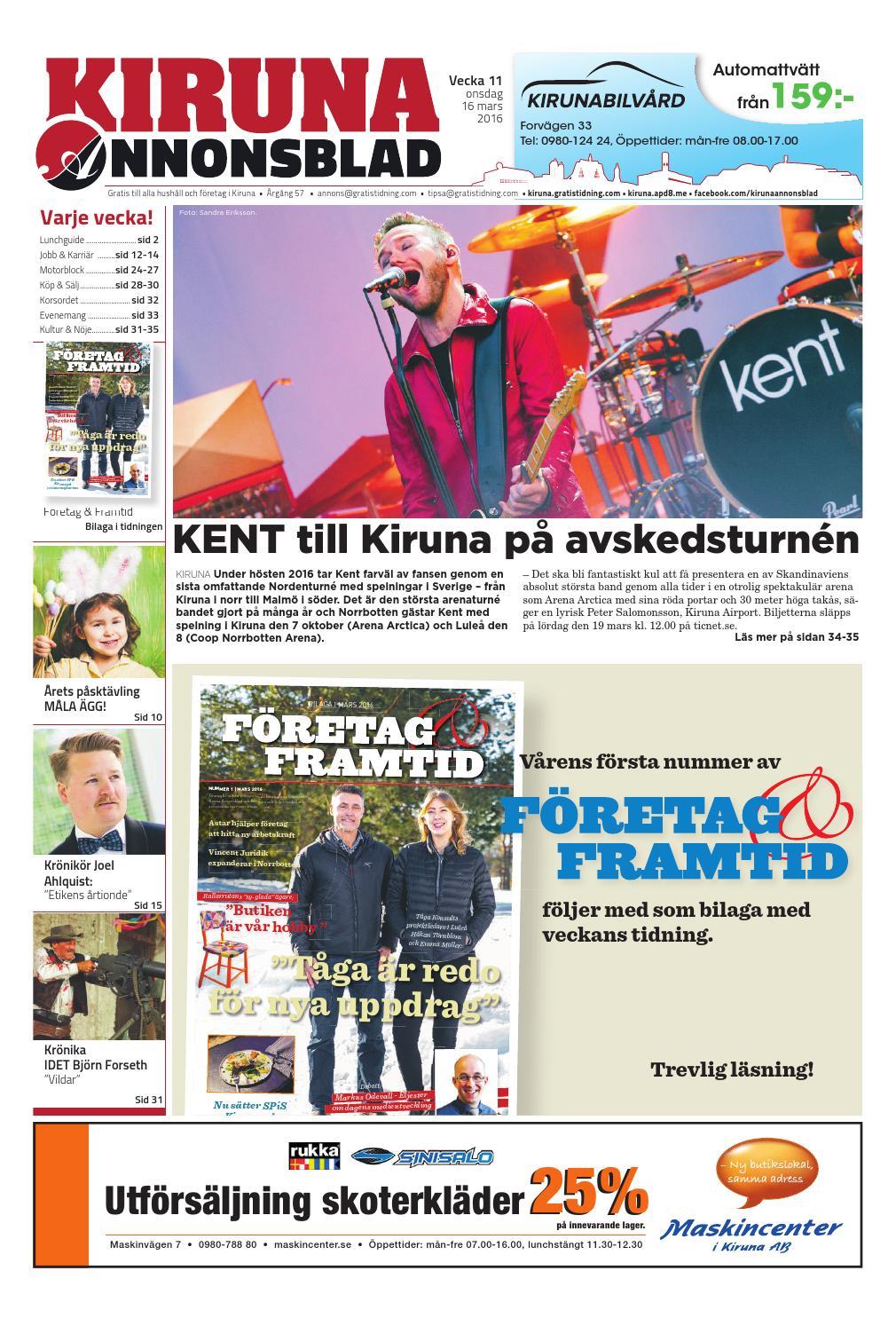 uk availability 8ba04 9edca Kiruna Annonsblad med Företag   Framtid bilaga by Svenska Civildatalogerna  AB - issuu
