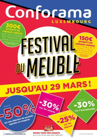 doc 18 festival du meuble by conforama luxembourg issuu. Black Bedroom Furniture Sets. Home Design Ideas