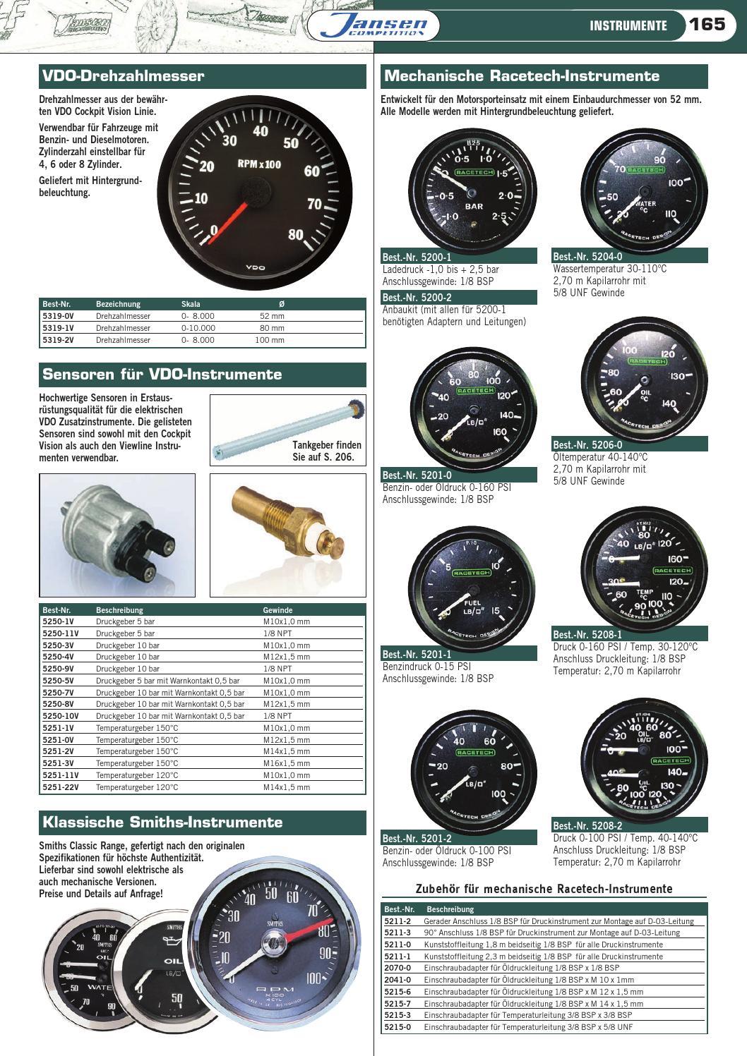 VDO Druckgeber  Öldruck M12x1.5 bis 5 bar
