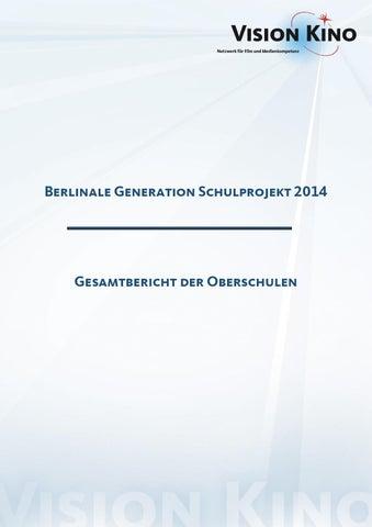 Gesamtbericht der Oberschulen 2014 by VISION KINO - issuu