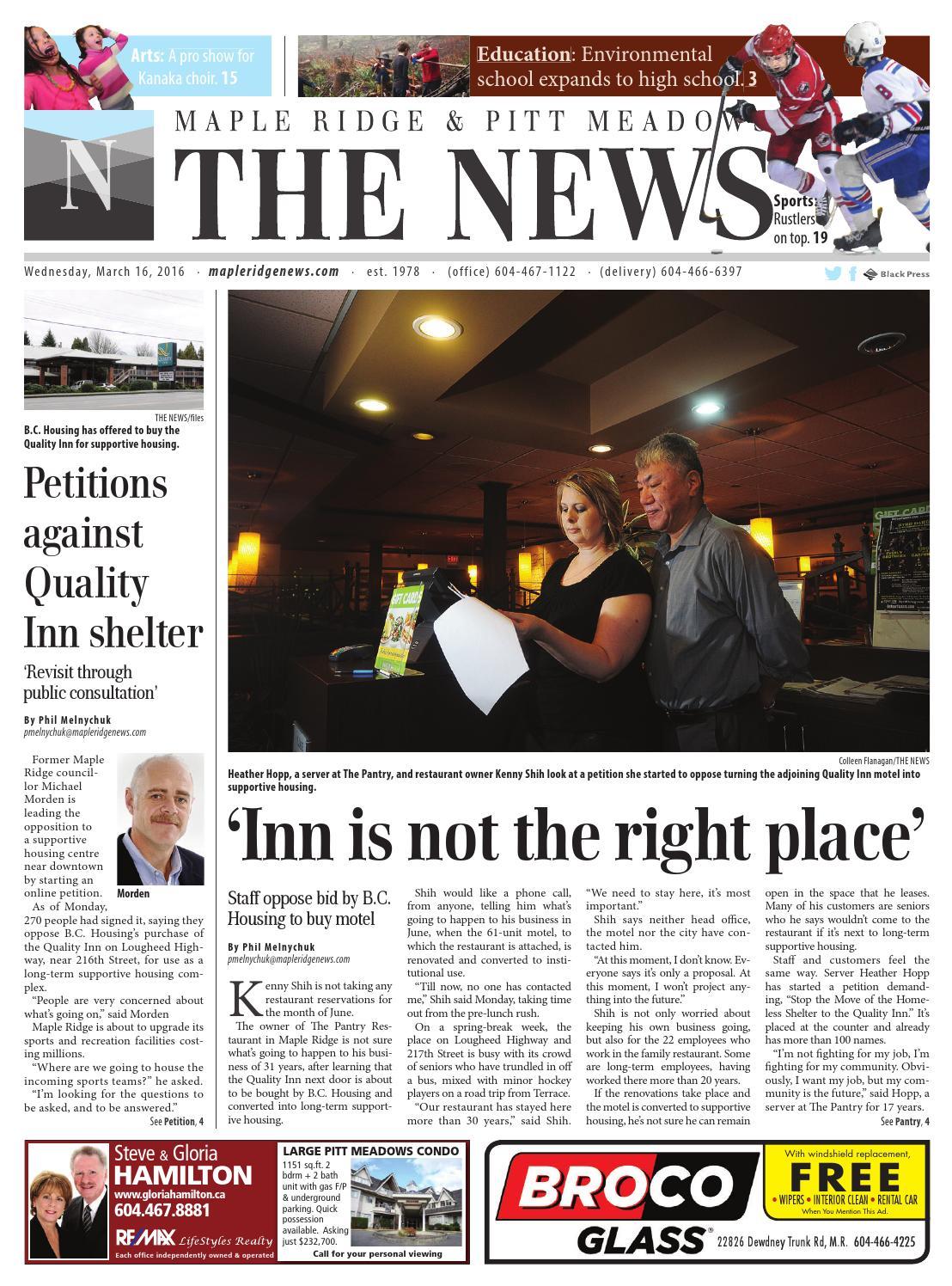 Maple Ridge News, March 16, 2016 by Black Press Media Group