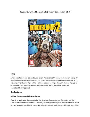 Buy and Download Borderlands 2 Steam Game in just £8 49-- UKinGame