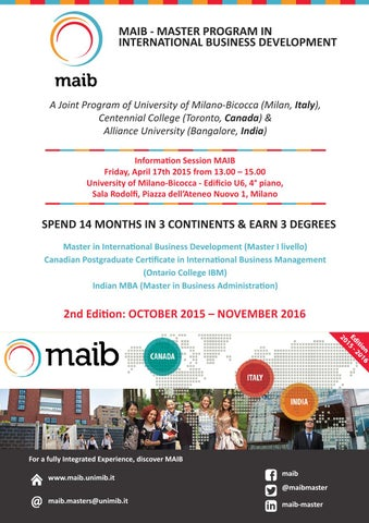 Maib Information Session 17 04 2015 By Maib Master In