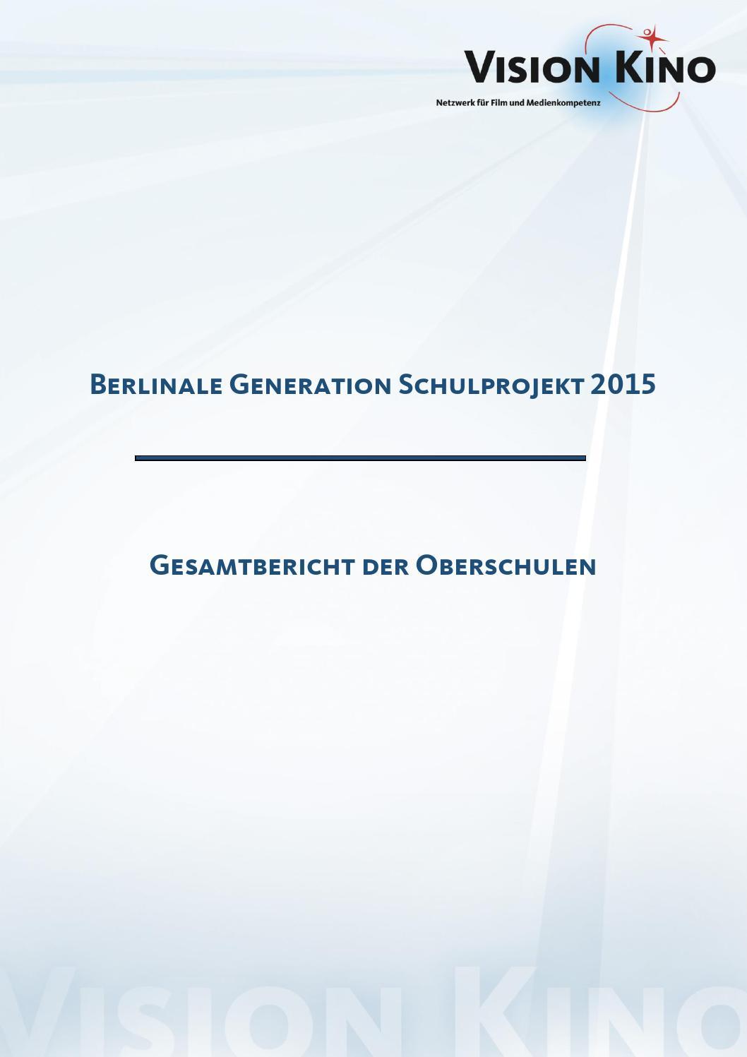 Gesamtbericht der Oberschulen 2015 by VISION KINO - issuu