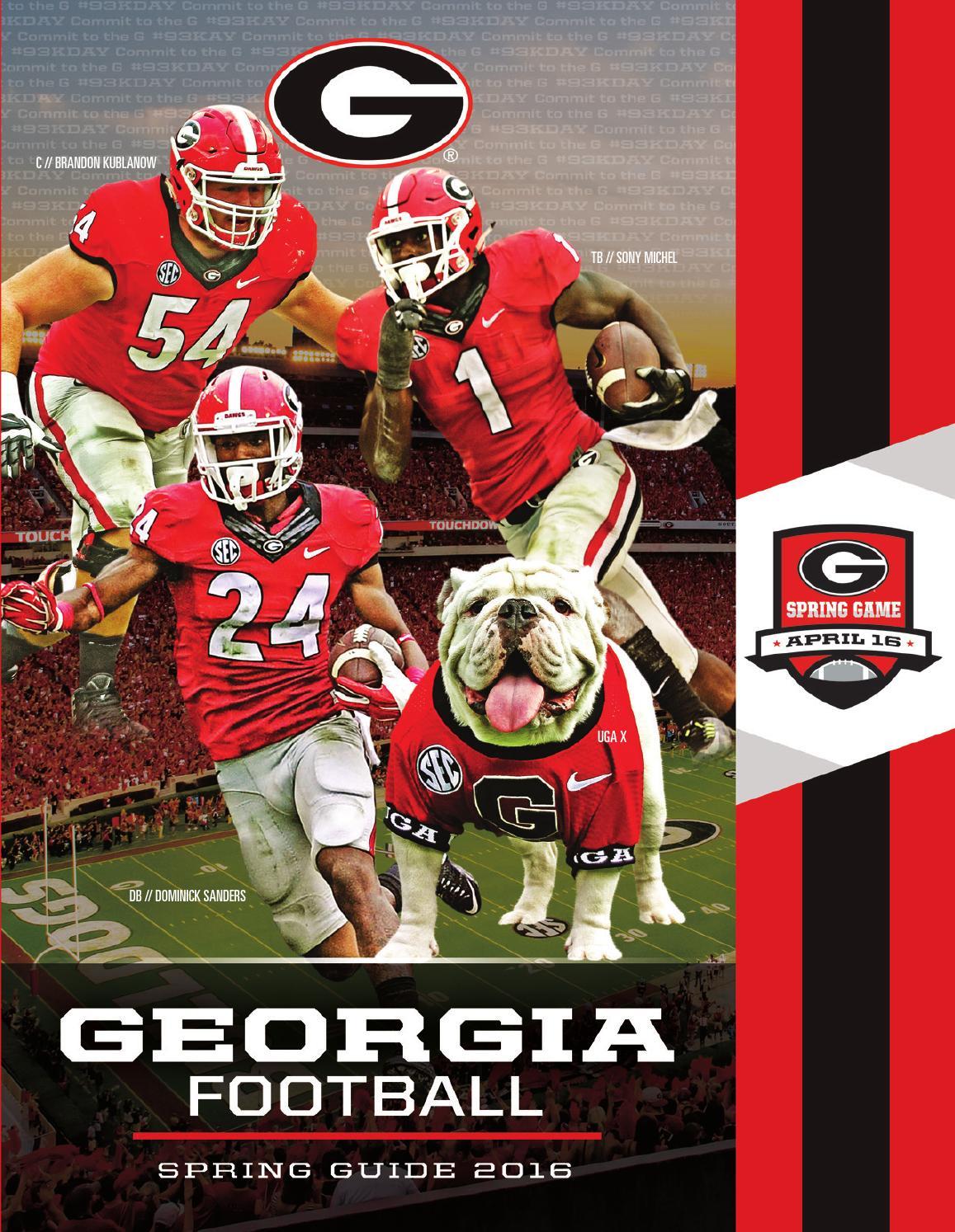 2016 Georgia Bulldog Spring Football Guide by Georgia Bulldogs ...