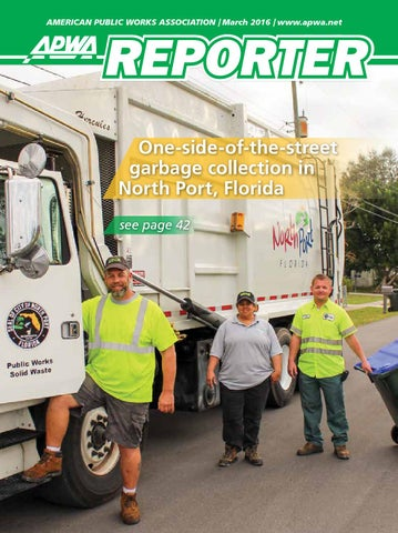 APWA Reporter March 2016 Issue By American Public Works Association