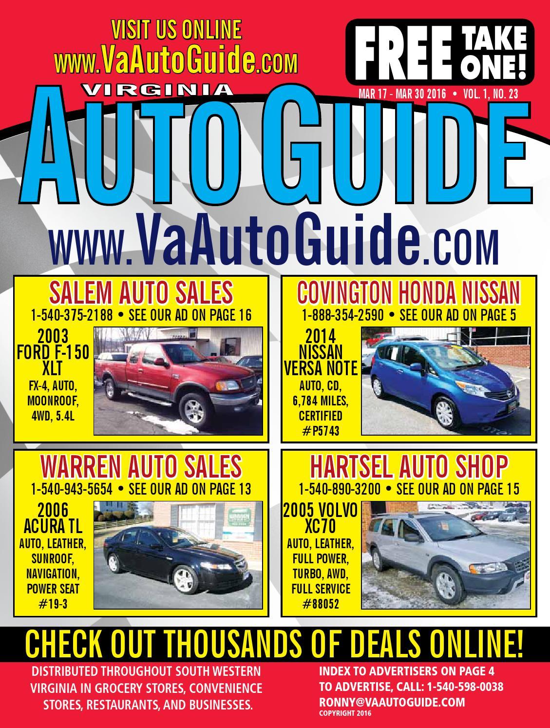 Covington Honda Nissan >> Va Auto Guide 01 23 Webres By Va Auto Guide Issuu