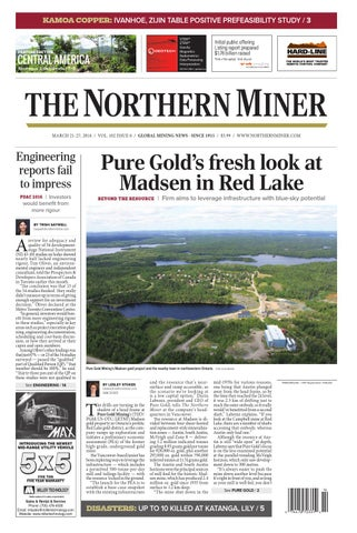 165 Niocorp Appoints Mr Mark A Smith  >> The Northern Miner March 21 2016 Issue By The Northern Miner Group