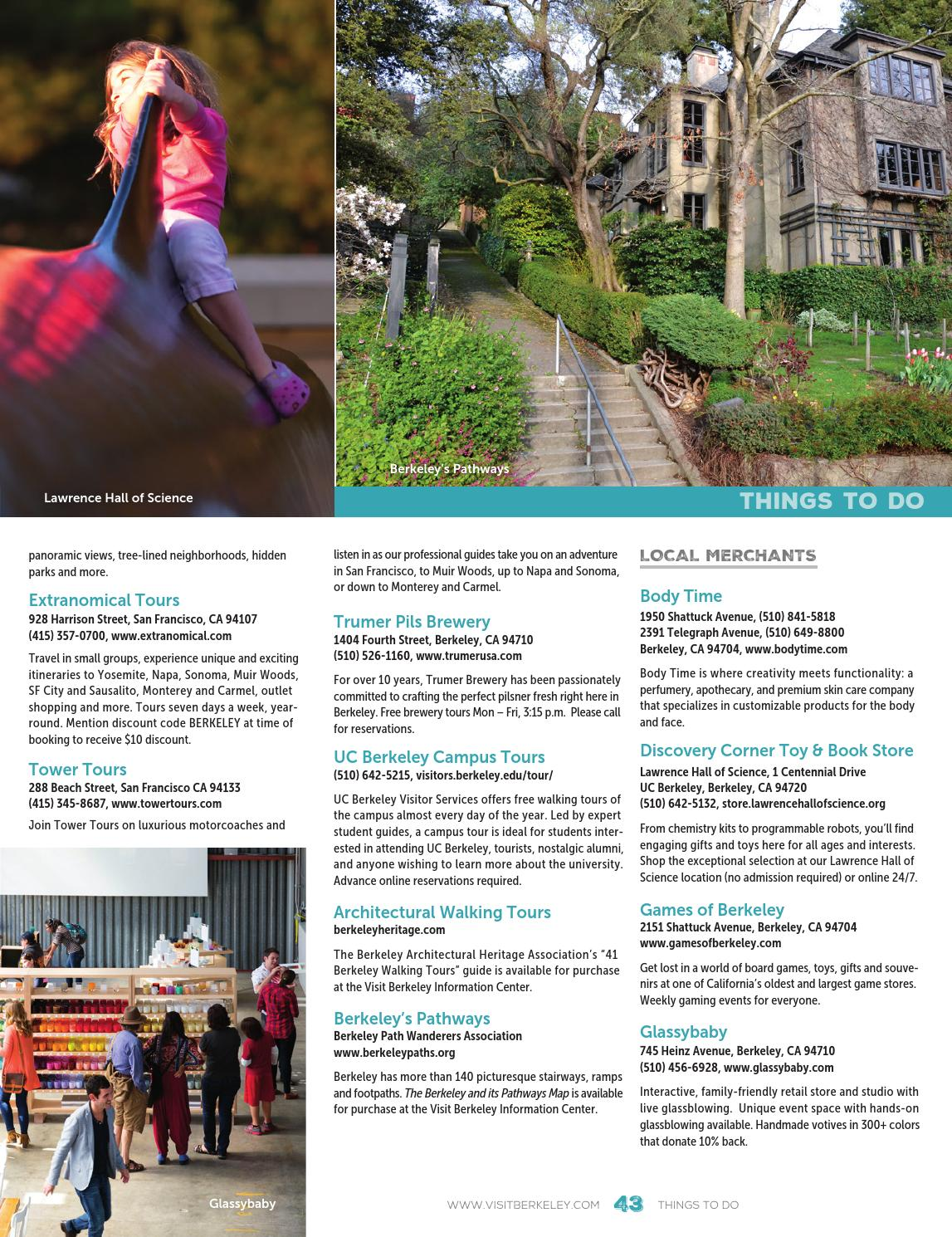 BERKELEY VISITORS GUIDE 2016/17 by Visit Berkeley - issuu