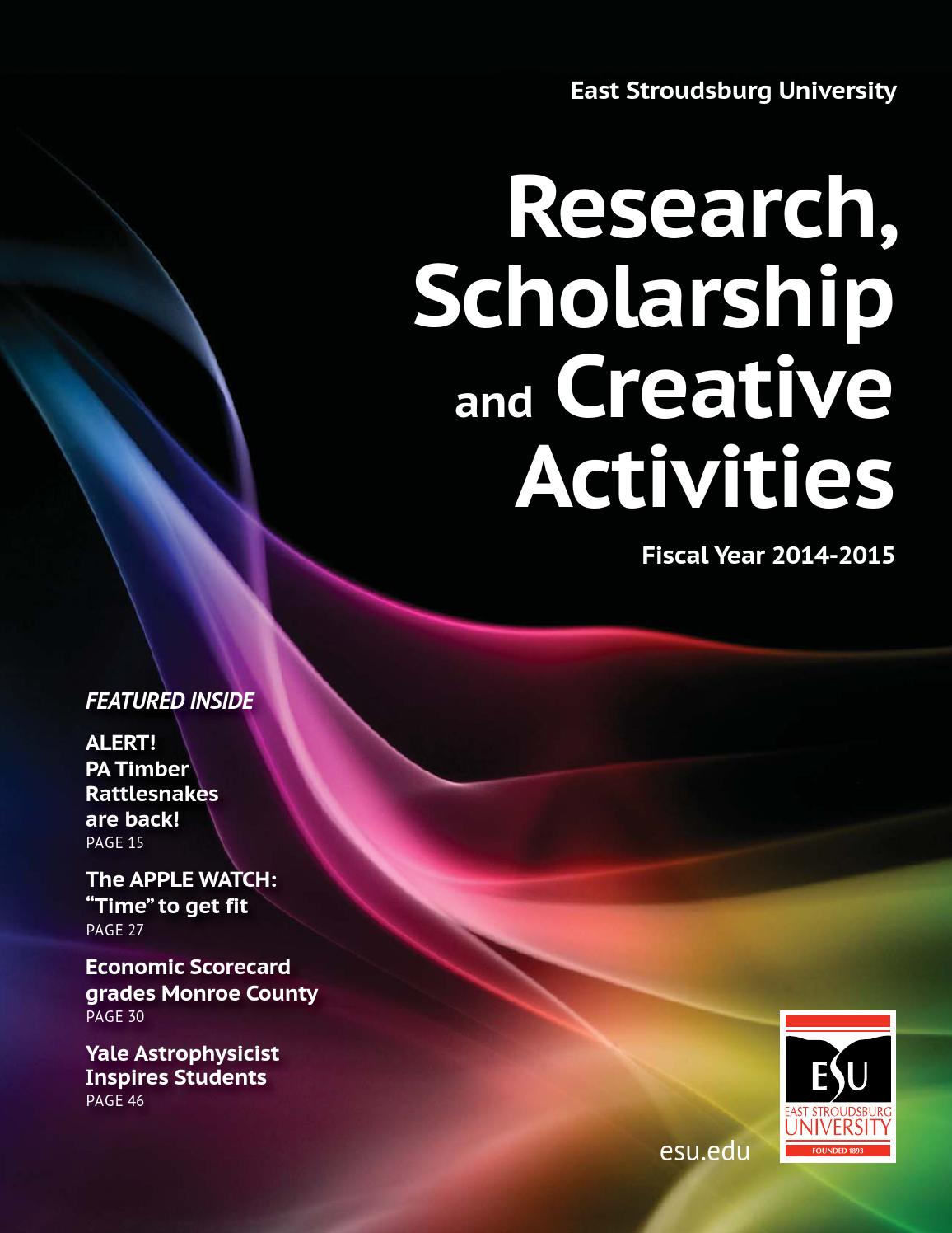 Research, Scholarship and Creative Activities 2014-2015 by