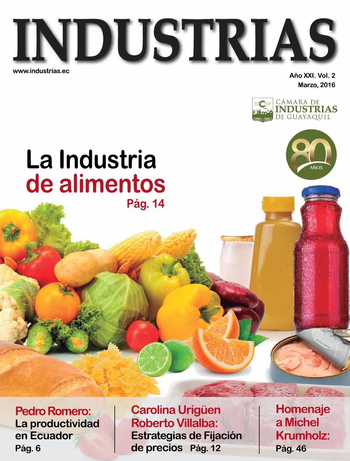 revista industrias marzo 2016 by c225mara de industrias de