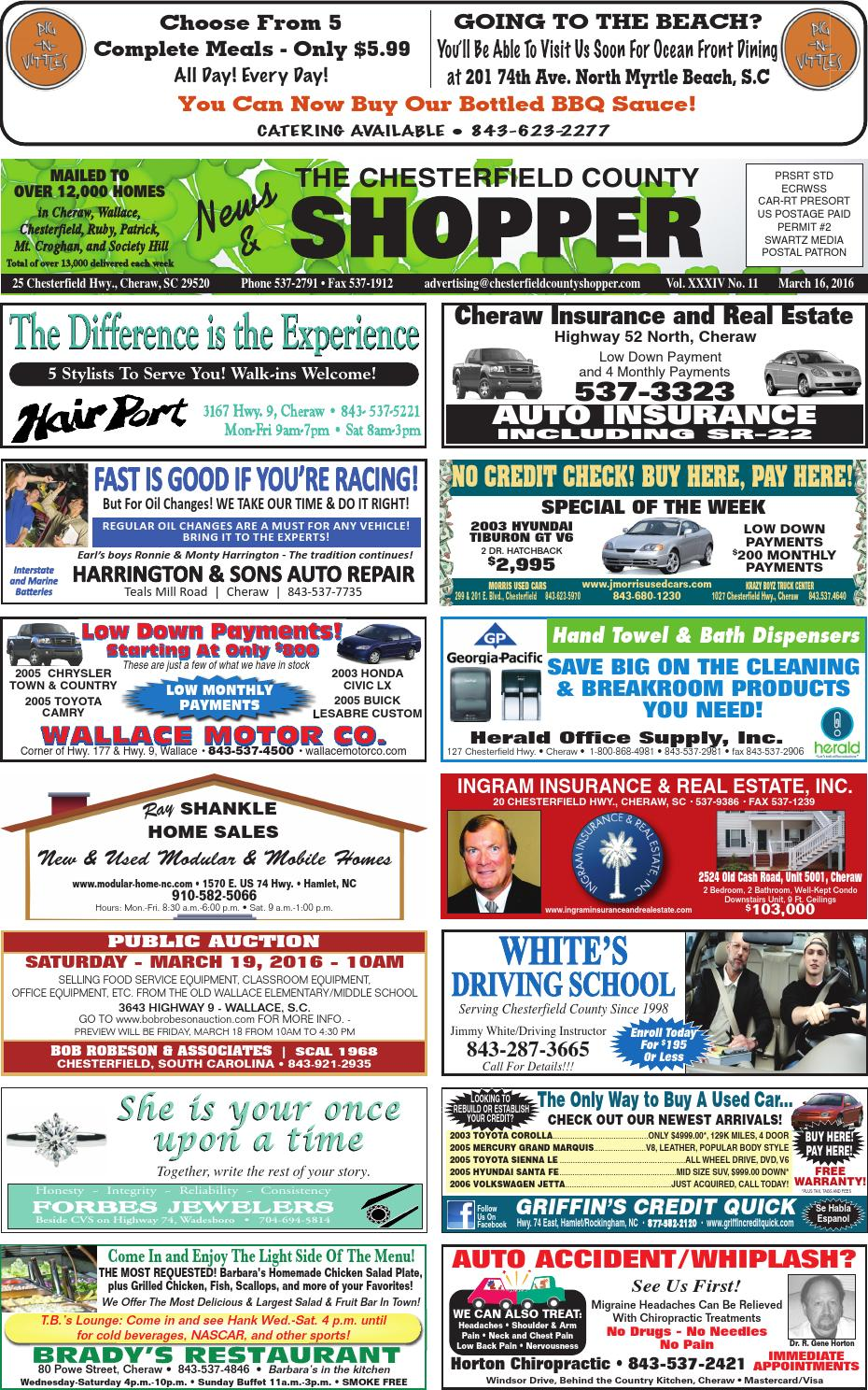 Chesterfield County News Shopper 3 16 16 By The News Journal Issuu