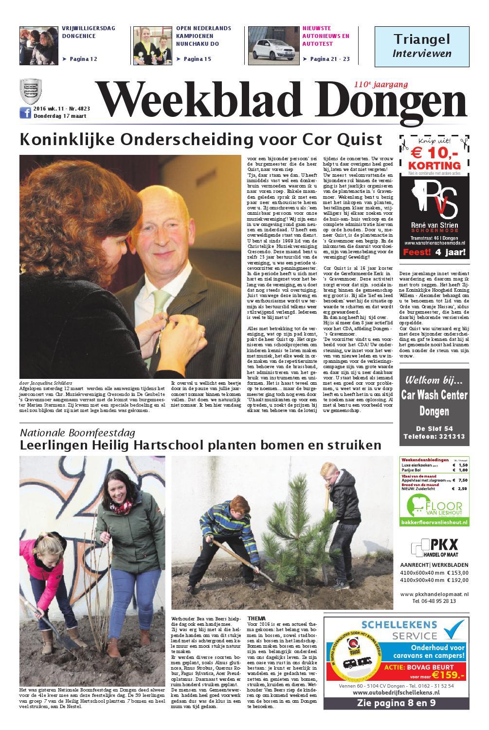 Weekblad Dongen 17 03 2016 By Uitgeverij Em De Jong Issuu