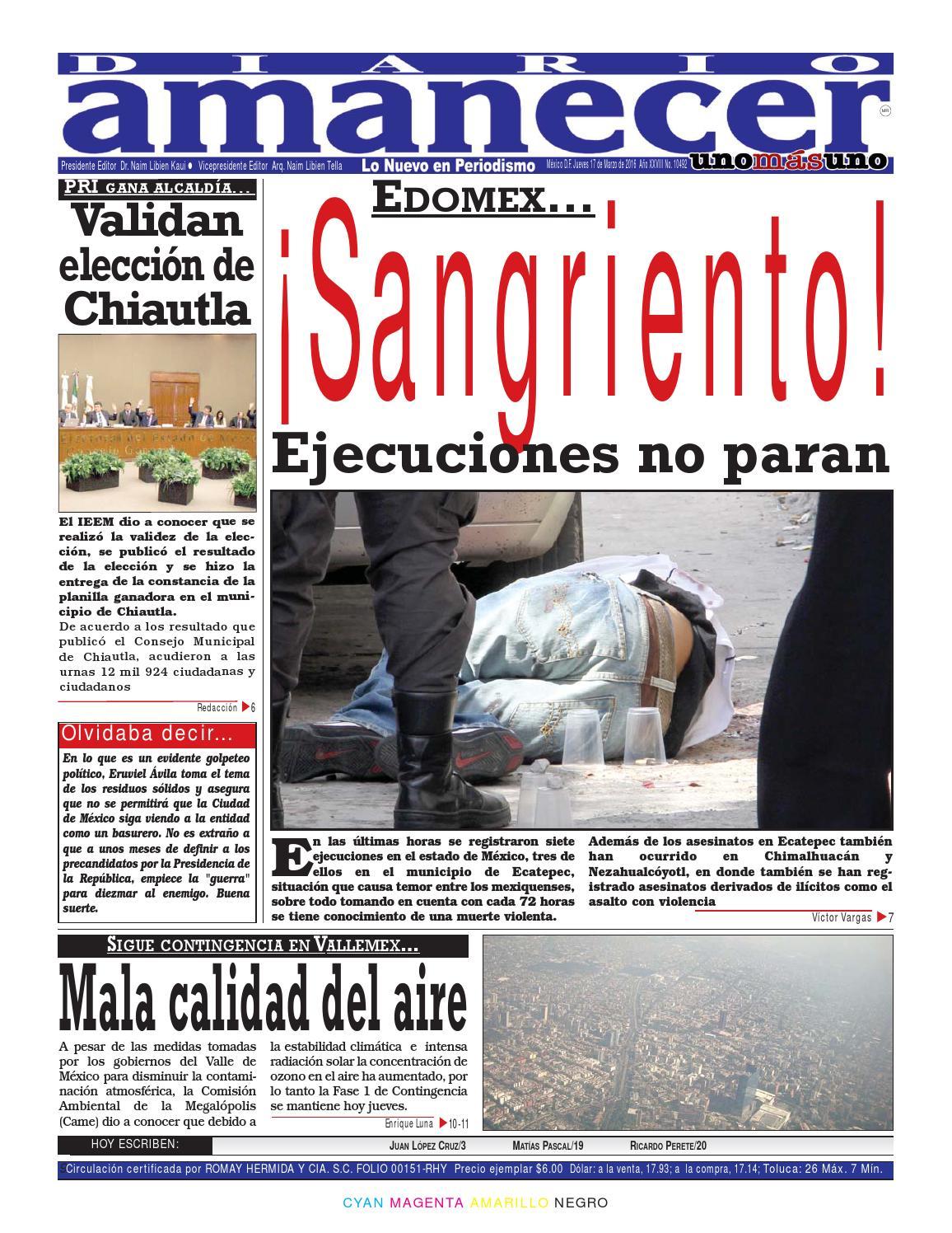 9bf66a1aef Marzo 17 de 2016 by Diario Amanecer - issuu