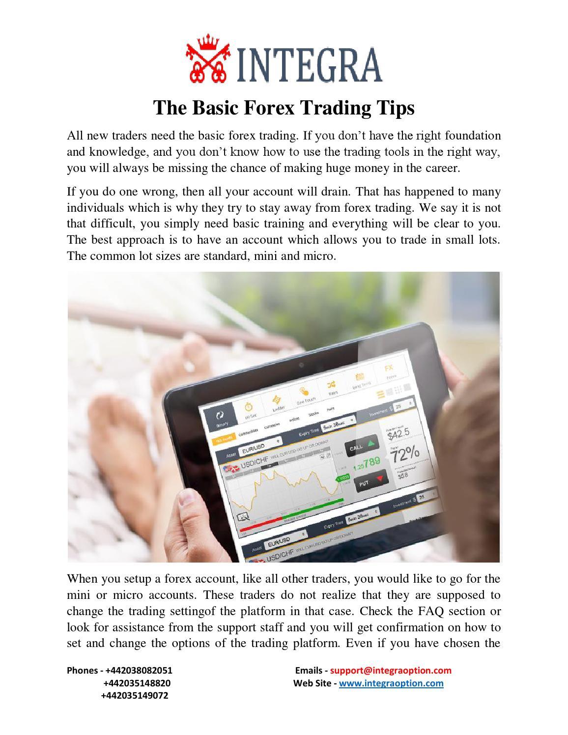 Basic forex pairing tips