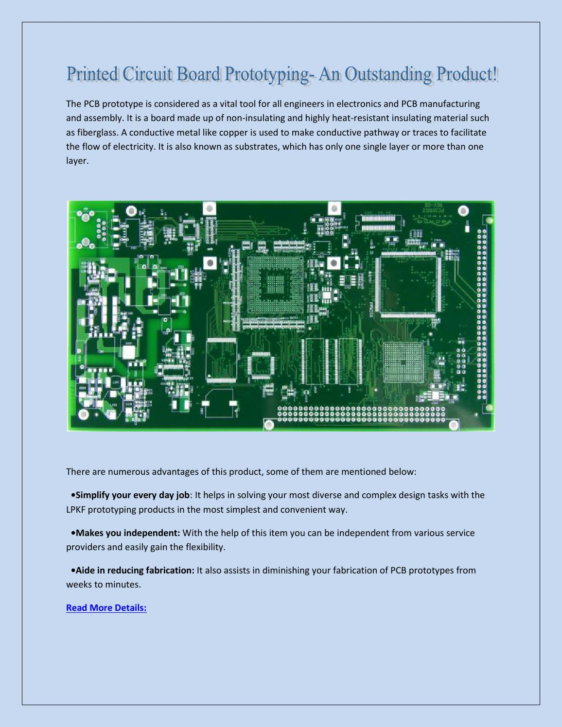 Printed Circuit Board Prototyping- An Outstanding Product