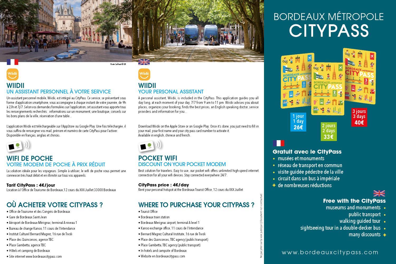Flyer CityPass 2016 By Office De Tourisme Bordeaux Mtropole