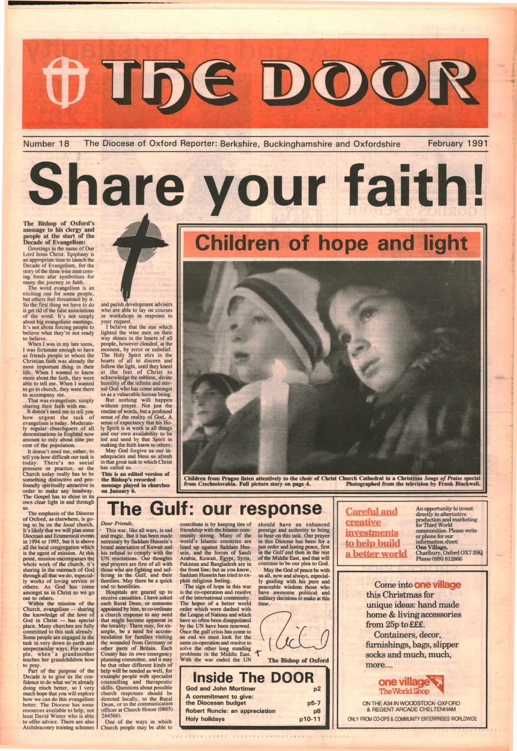 #19 February 1991 by Diocese of Oxford - issuu