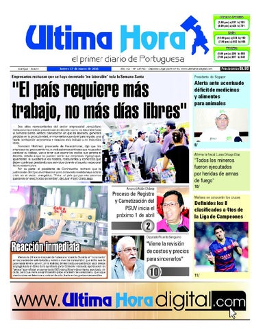 Edición17 03 2016 by Ultima Hora - El primer diario de Portuguesa ... 8b7857b60dfa