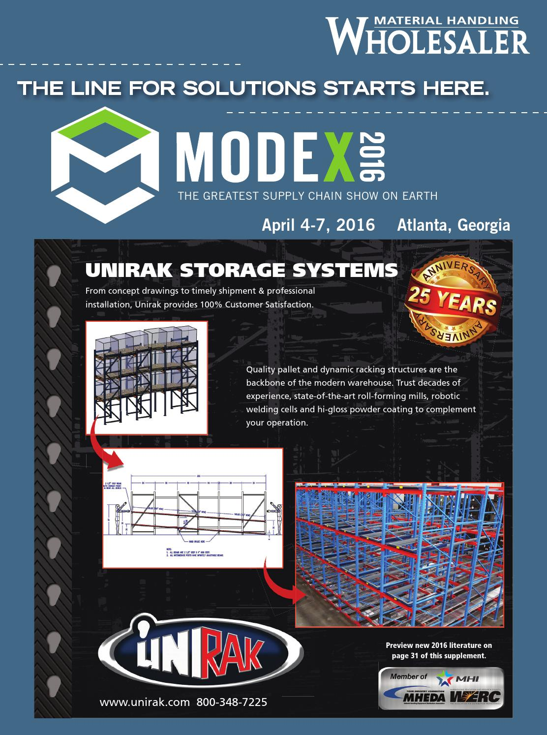 Material Handling Wholesaler's guide to MODEX 2016 by
