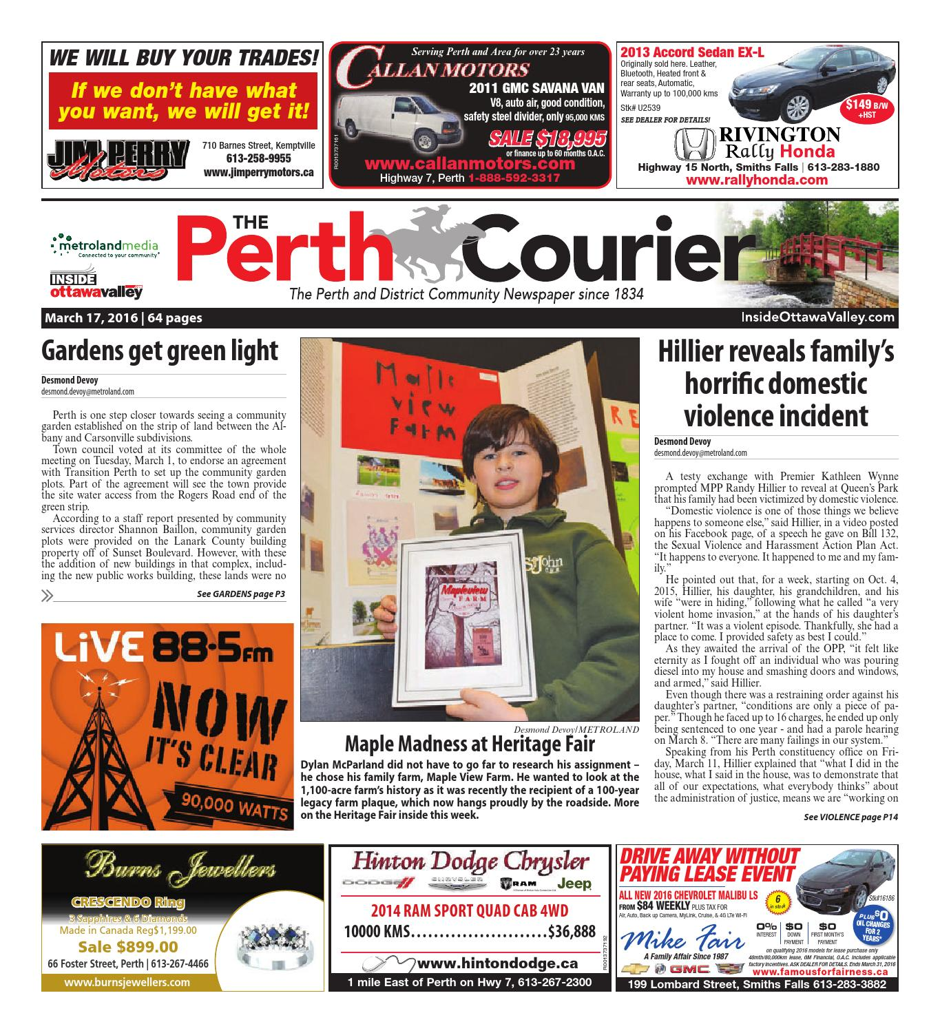 Perth031716 by Metroland East - The Perth Courier - issuu