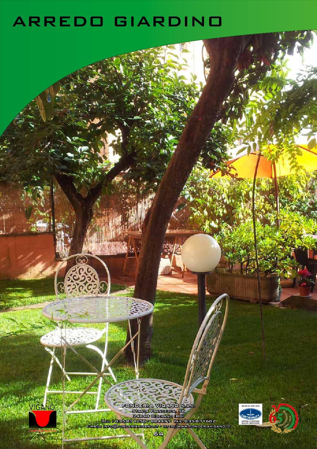 Catalogo arredo da giardino fonderia vigan 2016 by for Viridea catalogo arredo giardino