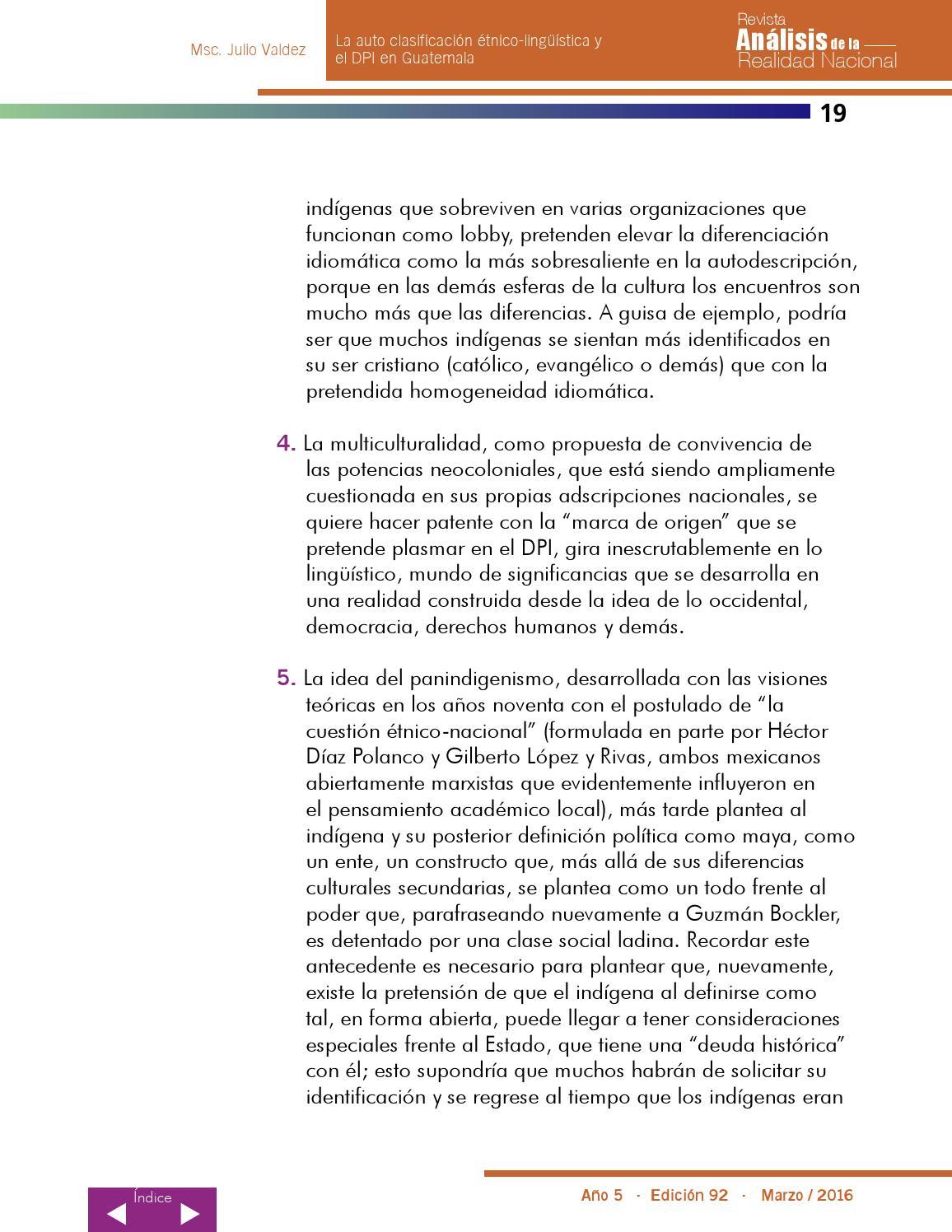 Edicion No 92 Revista Analisis De La Realidad Nacional By