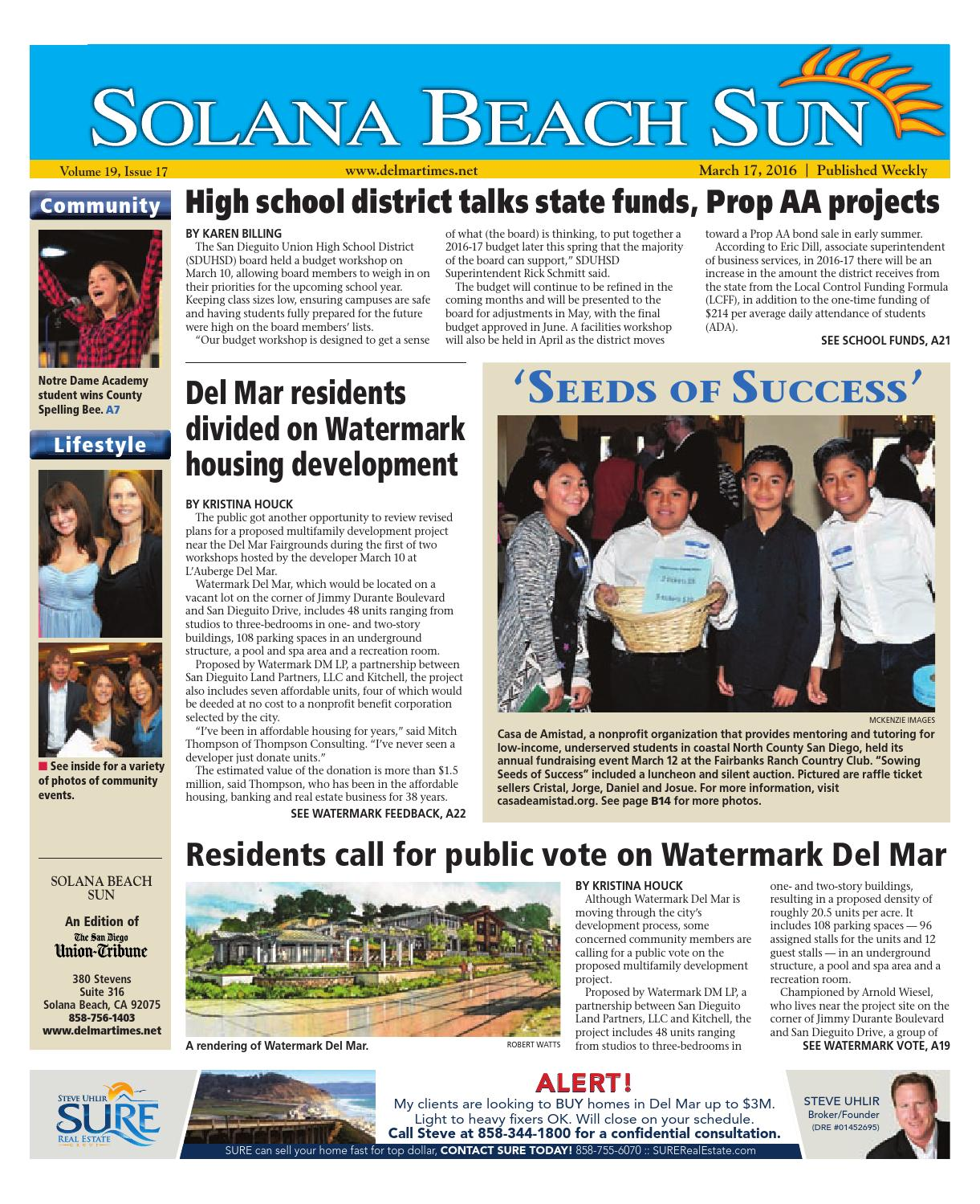 solana beach sun 03 17 16 by mainstreet media issuu
