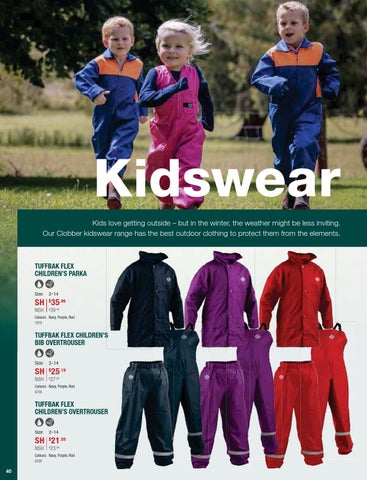 ab44617c2 Kidswear Kids love getting outside – but in the winter, the weather might  be less inviting. Our Clobber kidswear range has the best outdoor clothing  to ...